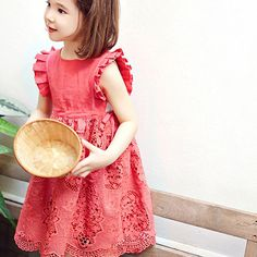 aba41730f7ab 2017 New Girls Lace Summer Dress Kids Fashion Sundress Baby Sleeveless Dress  Children Dress Toddler Floral Dress Hot Sale! 3 12Y-in Dresses from Mother  ...