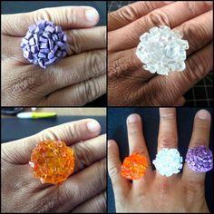 Eenvoudig leuke ringen maken.