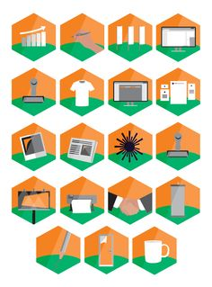 Marketing Buissens Vector Icons by tekstura