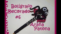 Boligrafo Decorado #6 - Araña Patona - Tutorial - DIY