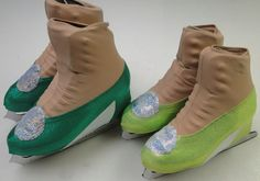 Tinkerbell Skate Boot Cover / Figure Skating / Ice Skating. kating as Tinkerbell in Peter Pan's Wonderland? These Tinkerbell skating boot covers come in shiny emerald green or shiny neon lime green, and will complete your look!