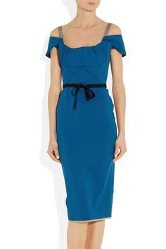 Roland Mouret   Herbert off-the-shoulder stretch cotton-blend dress   NET-A-PORTER.COM