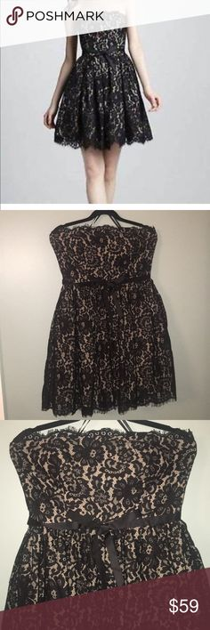 NWT Neiman Marcus Lace Dress Neiman Marcus Robert Rodriguez for Target. NWT size 12. This is a gorgeous black lace nude lining dress. Perfect for a holiday party or winter formal! neiman marcus/ target Dresses Strapless