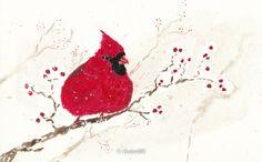 Day 40: Cardinal by cedarlili on DeviantArt