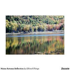 Maine Autumn Reflection Poster