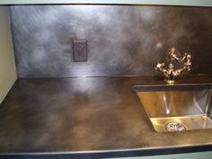 zinc countertops patina - Google Search