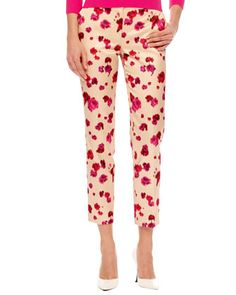 Cropped Floral-Print Pants at Neiman Marcus.
