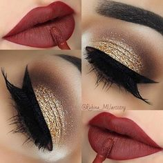 This would be pretty Christmas makeup