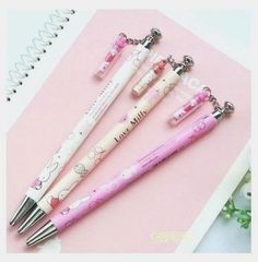 You will get all 3 designs. We will always try our best to work things out. Stationary Supplies, Cute Stationary, Japanese Mechanical Pencils, Fineliner Pens, Cute Pens, Kids Makeup, Cute School Supplies, Kawaii Accessories, Best Pens