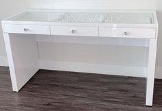ZARA PRO Vanity Table - Medina Vanity Table Dimensions, Drawer Knobs, Drawers, Zara, Bathtub, Vanity, Makeup, Standing Bath, Vanity Area