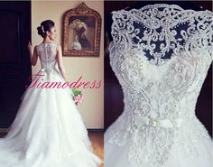 Wedding dress Pure handmade Bridal Ball gown Lace por Tiamodress, $499.00