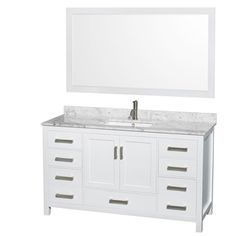 Shop for Wyndham Collection Sheffield 60-inch Single White Vanity. Get free delivery at Overstock.com - Your Online Furniture Outlet Store! Get 5% in rewards with Club O!