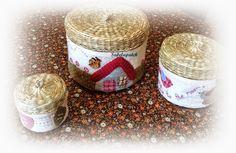 Sabelapatch: Más cestas decoradas y decoupage