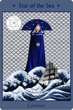 Mary, Star of the Sea, Comfort -- from our Blessed Virgin Mary Holy Cards app (https://itunes.apple.com/us/app/blessed-virgin-mary-holy-cards/id898495790?mt=8 -- for Android too!) by Radiant Heart Media. CC-BY