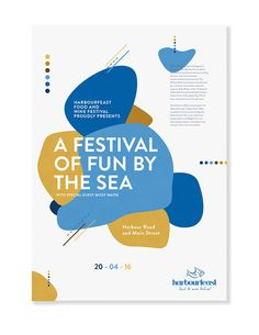 Poster design for Harbourfeast Food & Wine Festival. Created by The Bee's Knees Design.
