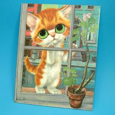 3 Vintage 8X10 Prints  Pity Kitty Pinkie Matador  by tipsyvintage, $14.50