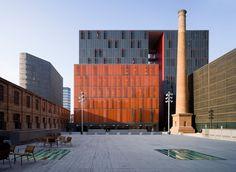 Audiovisual Campus Ca l'Aranyó (UPF) in Barcelona by the architects Josep Benedito, Ramon Valls