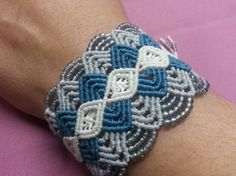 micro macrame bracelet with beads Macrame Jewelry, Macrame Bracelets, Ring Bracelet, Bracelet Making, Micro Macramé, Diy Rings, Gifts For Her, Crochet Necklace, Weaving