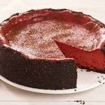 Red Velvet Cheesecake (try using premade graham cracker crust instead)