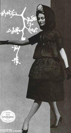 1959 Michel Goma 1950s Fashion, Fashion Dolls, Vintage Fashion, Photo B, 50s Dresses, Fashion History, Fashion Photo, Business Women, Vintage Outfits