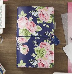 Websters+Pages+-+Color+Crush+Collection+-+Travelers+Planner+-+Navy+Floral+at+Scrapbook.com
