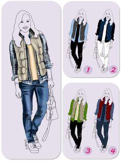 Lesen Sie auf www.modefluesterin.de , was es mit diesen Lagen-Looks auf sich hat! Tipp: Es geht um die richtige Verteilung von Farben und Mustern im #Outfit :-)