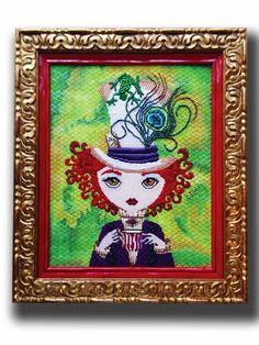 It's not your Grandmother's Needlepoint: The Lady Hatter is Here!