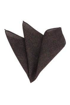 Winter Wool Pocket Square with Subtle Glen Check Print Design - New Winter Pocket Square Collection handmade in Italy for Bows-N-Ties.com
