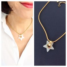 Gold star necklace - Gold dainty necklace - Italian star necklace - modern necklace - minimalist necklace - star pendant necklace - sister