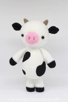 Lily the Cow Crochet Amigurumi Pattern - https://www.etsy.com/au/listing/532546989/crochet-amigurumi-cow-pattern-only-lily?ref=related-1