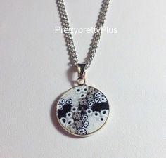 Sterling silver murano millefiori pendant necklace venetian glass sterling silver murano millefiori pendant necklace venetian glass murrina 15 1 mozeypictures Images