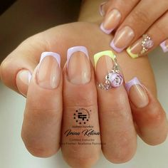 Candy ball or bubble flower nails feature a rose-like flower design encapsulated in a ball of clear gel. Check out these nail designs using this fun new trend.