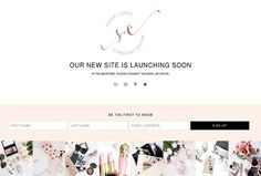 Feminine Coming Soon Web Page by Boutique Design Studio on @creativemarket