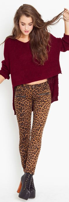 This is so cute! I never know what to wear with my cheetah pants.