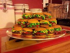 Groom's cake alternative: cheeseburger cookies