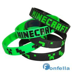 Minecraft Birthday Party favors and wonderful Minecraft party ideas! 9th Birthday Parties, Minecraft Birthday Party, Birthday Party Favors, Boy Birthday, Birthday Ideas, Minecraft Party Favors, Birthday Invitations, Party Wristbands, Mindcraft Party