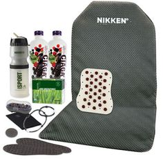 A Nikken Vital Day Pack is ideal for presenting Nikken wellness technology. The Day Pack features a broad selection of popular Nikken products.     Includes :    KenkoSeat® II  Kenko PowerBand™ - neck (black)  Kenko PowerBand® – wrist, large (black)  Kenko MagFlex™  Kenko MagDuo™  Kenko PowerChip™ (black)  KenkoTherm® wrap – knee (large)  PiMag® Sport Bottle  Magsteps® insoles (pair, medium)  Kenzen® CiagaV™ (2ct)  Jade GreenZymes® packets (box, 30ct)...