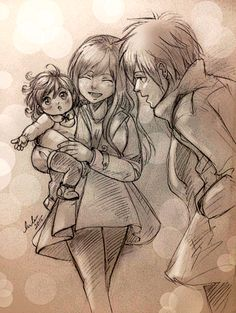 ❤ Jellal X Erza little family ❤ Celebrating their Child's 1st birthday at amusement park :D