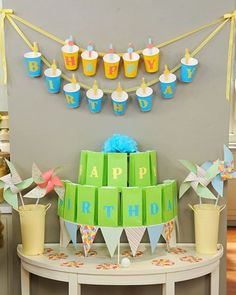 DIY Party Cup Birthday Banner
