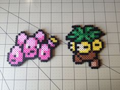 Pokemon Bead Sprite Set Exeggcute Family by ToughTurtles on Etsy, $5.50