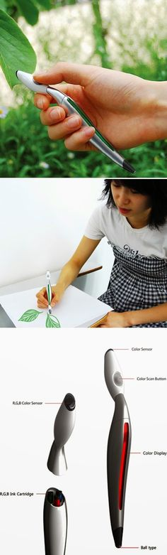 compact accurate color picker pen that picks any color around you and draws in that same color, the Scribble, is the subject of a new Kic...