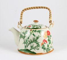Green Bamboo Design Chinese Teapot