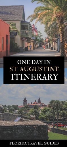 Only have 24 hours in St. Here's how to spend one day in St. Augustine, including where to eat, where to stroll, and what to do. Florida Travel Guide, Florida Vacation, Florida Trips, Canada Travel, Travel Usa, Travel Guides, Travel Tips, Travel Destinations, Romantic Things To Do