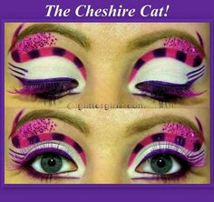 Chesire cat - fantastic makeup in pink and purples