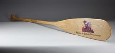 Cherry wood paddle with full color photo