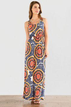 Valverde Printed Maxi Dress