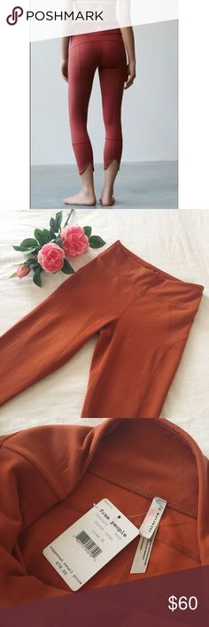 Free People Movement Virgo leggings New With Tags, Free People Movement Virgo leggings in burnt orange color. Size Medium. Features a banded waistband and a slit back hem. Stretchy activewear fabric. *last photo used for a visual fit purpose.* Please ask questions  Free People Pants Leggings