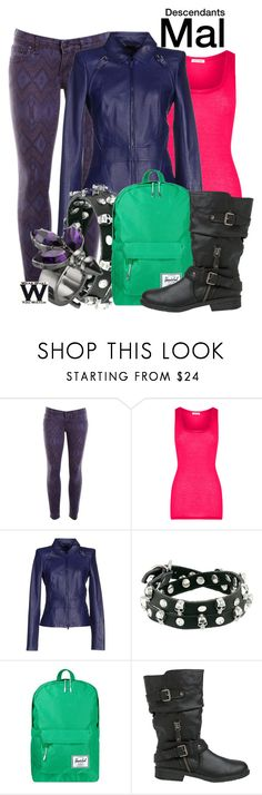 """""""Descendants"""" by wearwhatyouwatch ❤ liked on Polyvore featuring moda, Free People, American Vintage, Roberto Cavalli, Gypsy SOULE, Herschel Supply Co., Report, Mawi, television ve wearwhatyouwatch"""