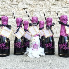 Bride Squad Champagne Party Favors by Wedding Champagne, Custom Bottles, Bachelorette Party Favors, All Design, Squad, Special Occasion, Brides, Weddings, Mariage