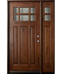 wood front doors | Rustic Collection Solid Wood Entry Door